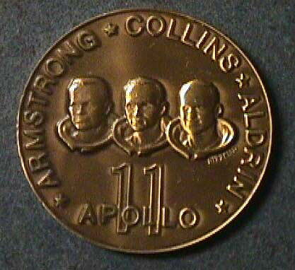 Medal, Commemorative, Apollo 11, Lincoln Mint,Medal, Commemorative, Apollo 11, Lincoln Mint