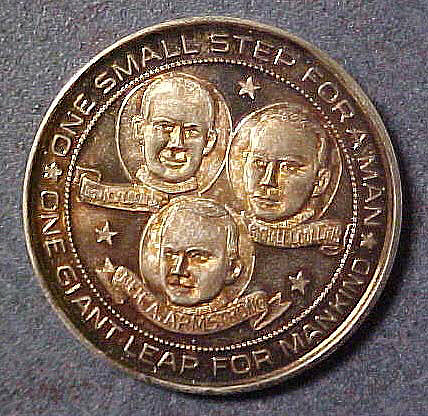Medal, Commemorative, Apollo 11, Paris Mint,Medal, Commemorative, Apollo 11, Paris Mint
