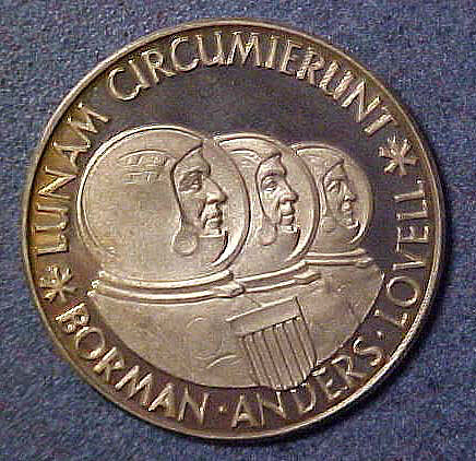 Medal, Commemorative, Apollo 8,Medal, Commemorative, Apollo 8