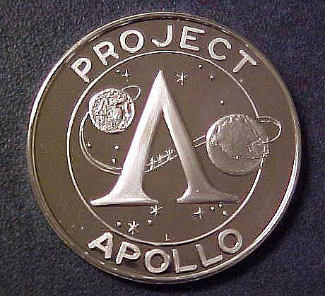 Medal, Commemorative, Apollo 14, Lincoln Mint,Medal, Commemorative, Apollo 14, Lincoln Mint