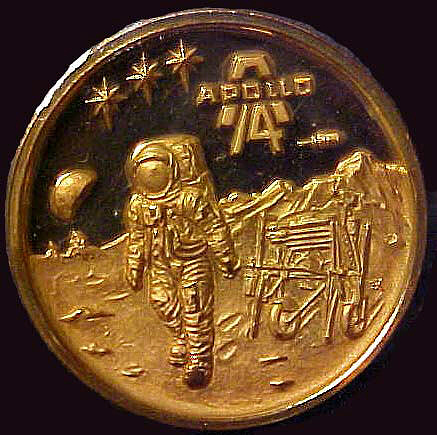 Medal, Commemorative, Apollo 14, International Mint,Medal, Commemorative, Apollo 14, International Mint
