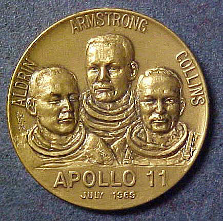 Medal, Commemorative, Apollo 11, Japanese Mint,Medal, Commemorative, Apollo 11, Japanese Mint
