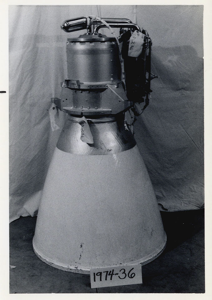 Rocket Engine, Liquid Fuel, Apollo Lunar Ascent Module Engine