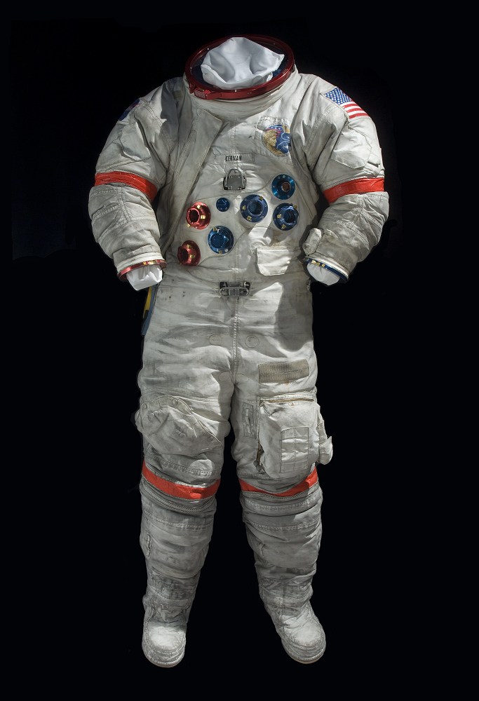 Pressure Suit, A7-LB, Cernan, Apollo 17, Flown