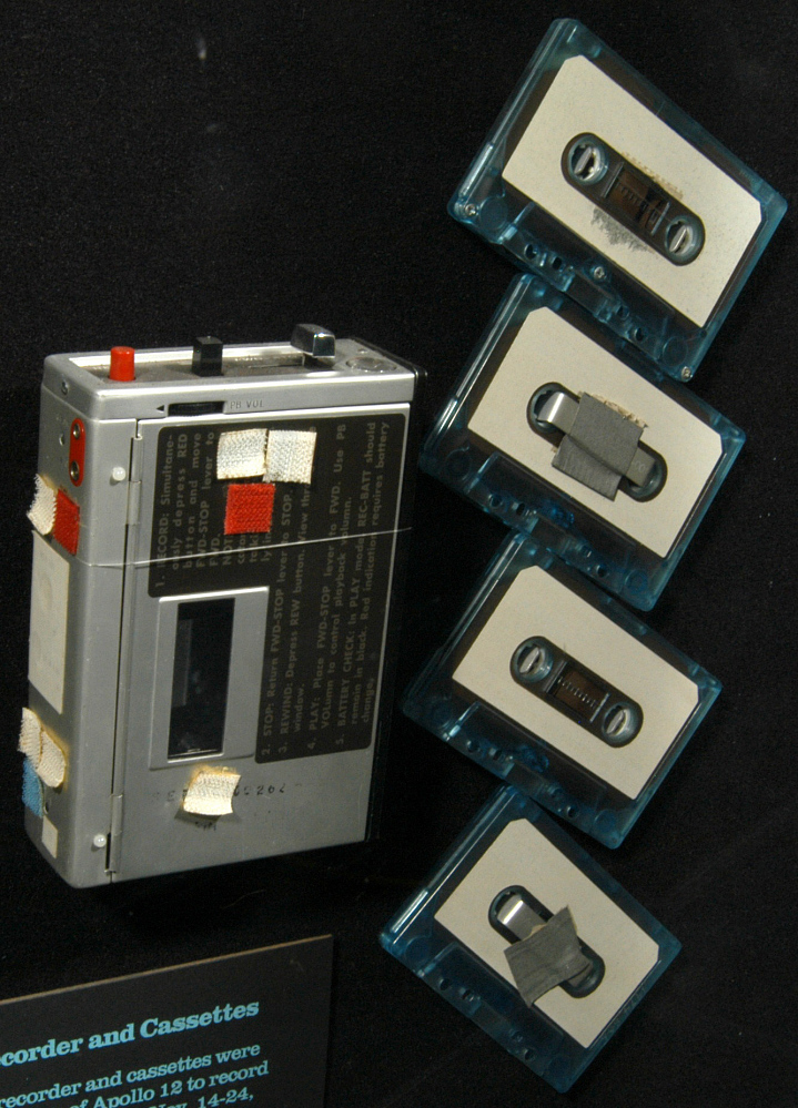 Recorder, Audio Cassette with 4 Tapes, Apollo 12
