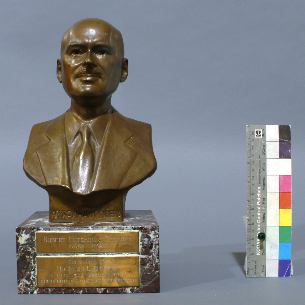 Trophy, Robert H. Goddard Memorial, 1964, Hugh L. Dryden,Trophy, Robert H. Goddard Memorial, 1964, Hugh L. Dryden