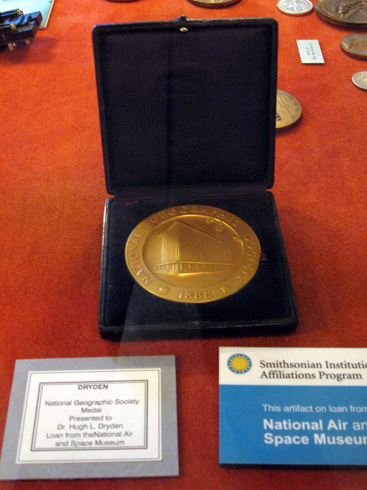Medal, National Geographic Society, Hugh L. Dryden