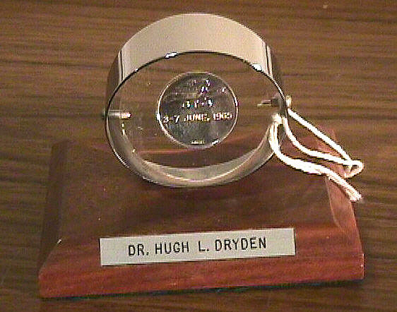Desk Stand, Gemini IV Commemorative, Hugh L. Dryden