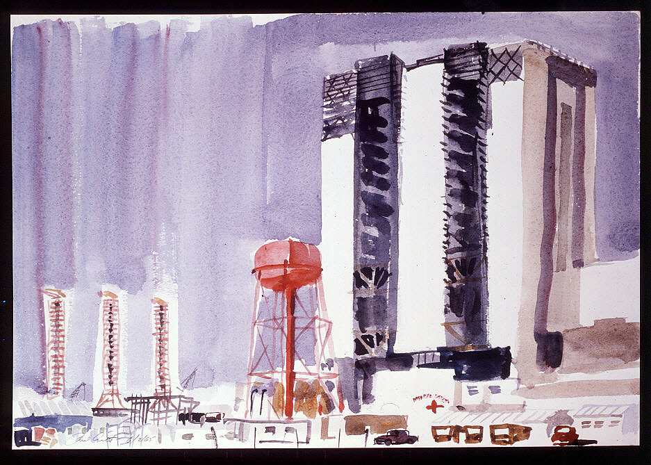 Vehicle Assembly Building Tower and Launch Pads