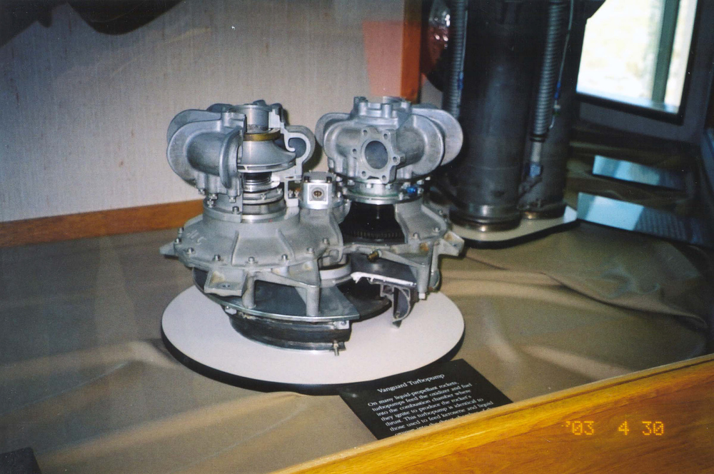 Turbopump, Rocket Engine, Vanguard Launch Vehicle, Cutaway