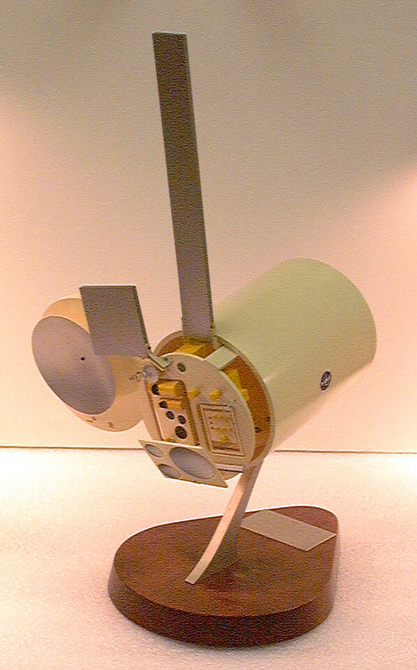 Model, Remote Sensing Satellite, Earth Survey Module,Model, Remote Sensing Satellite, Earth Survey Module