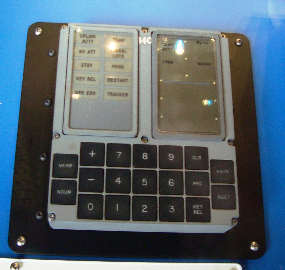 Keyboard, Display (DSKY), Apollo 16
