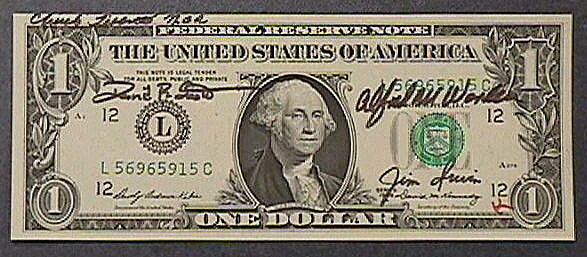One Dollar Bill, Apollo 15,One Dollar Bill, Apollo 15