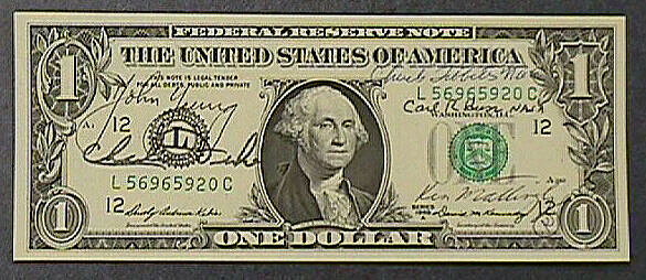 One Dollar Bill, Apollo 16,One Dollar Bill, Apollo 16