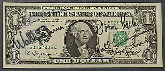 One Dollar Bill, Apollo 7