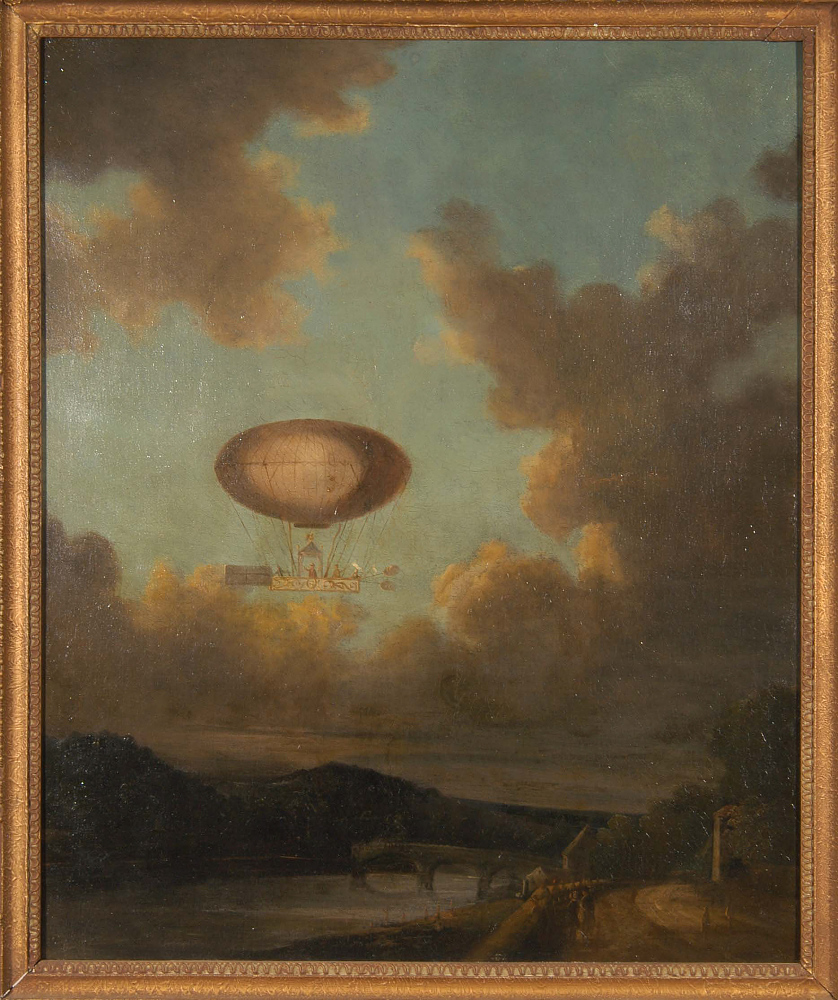 The Aerostat: The Duc de Chartres Ascending from St. Cloud,The Aerostat: The Duc de Chartres Ascending from St. Cloud