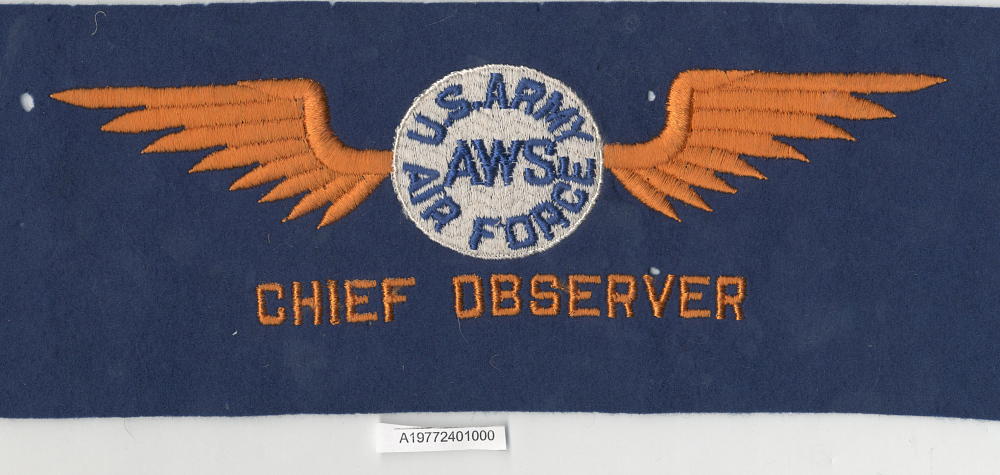 Armband, Air Warning Service Chief Observer, United States Army Air Forces