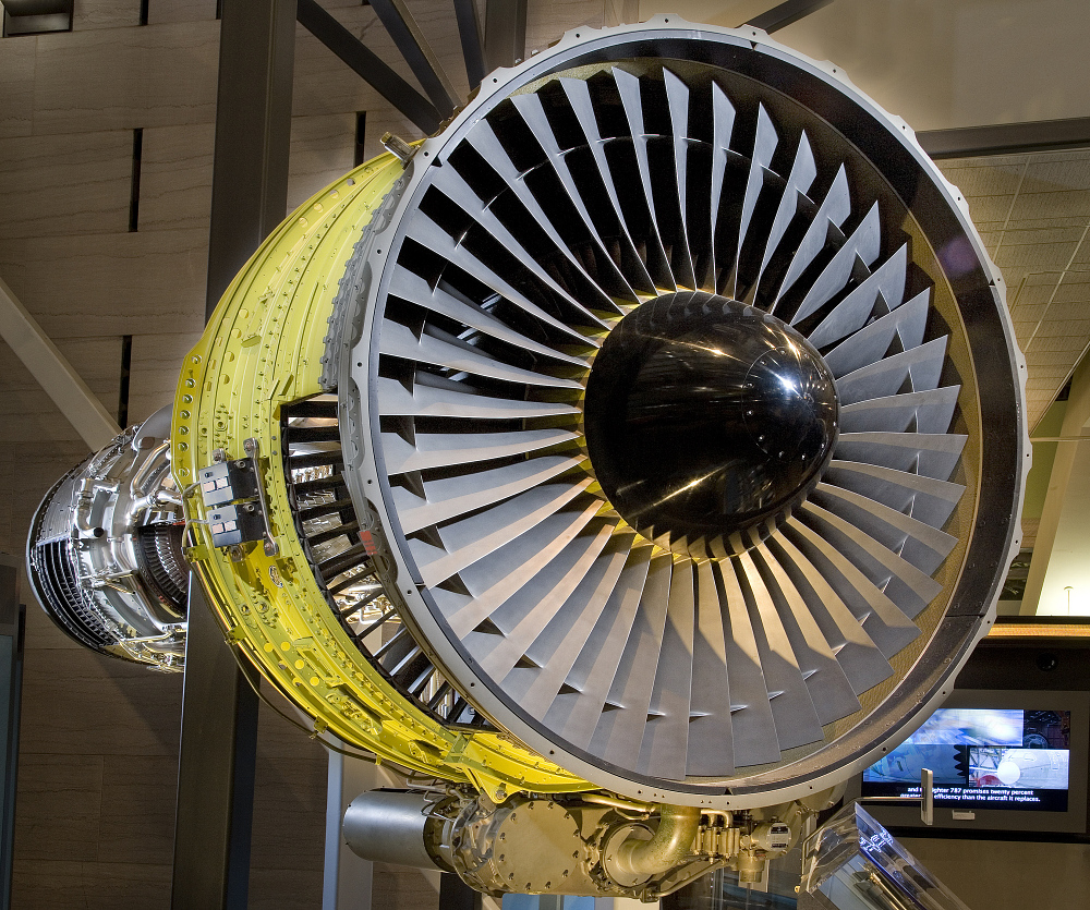 General Electric CF6-6 Turbofan Engine, Cutaway