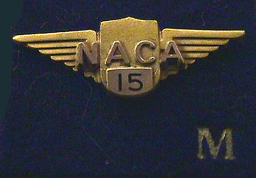 Pin, Lapel, 15 Year Service, National Advisory Committee on Aeronautics