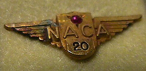 Pin, Lapel, 20 Year Service, National Advisory Committee on Aeronautics