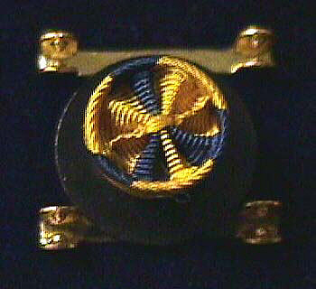 Lapel Button, Naval Ordnance Development Award, Bureau of Ordnance, 1945