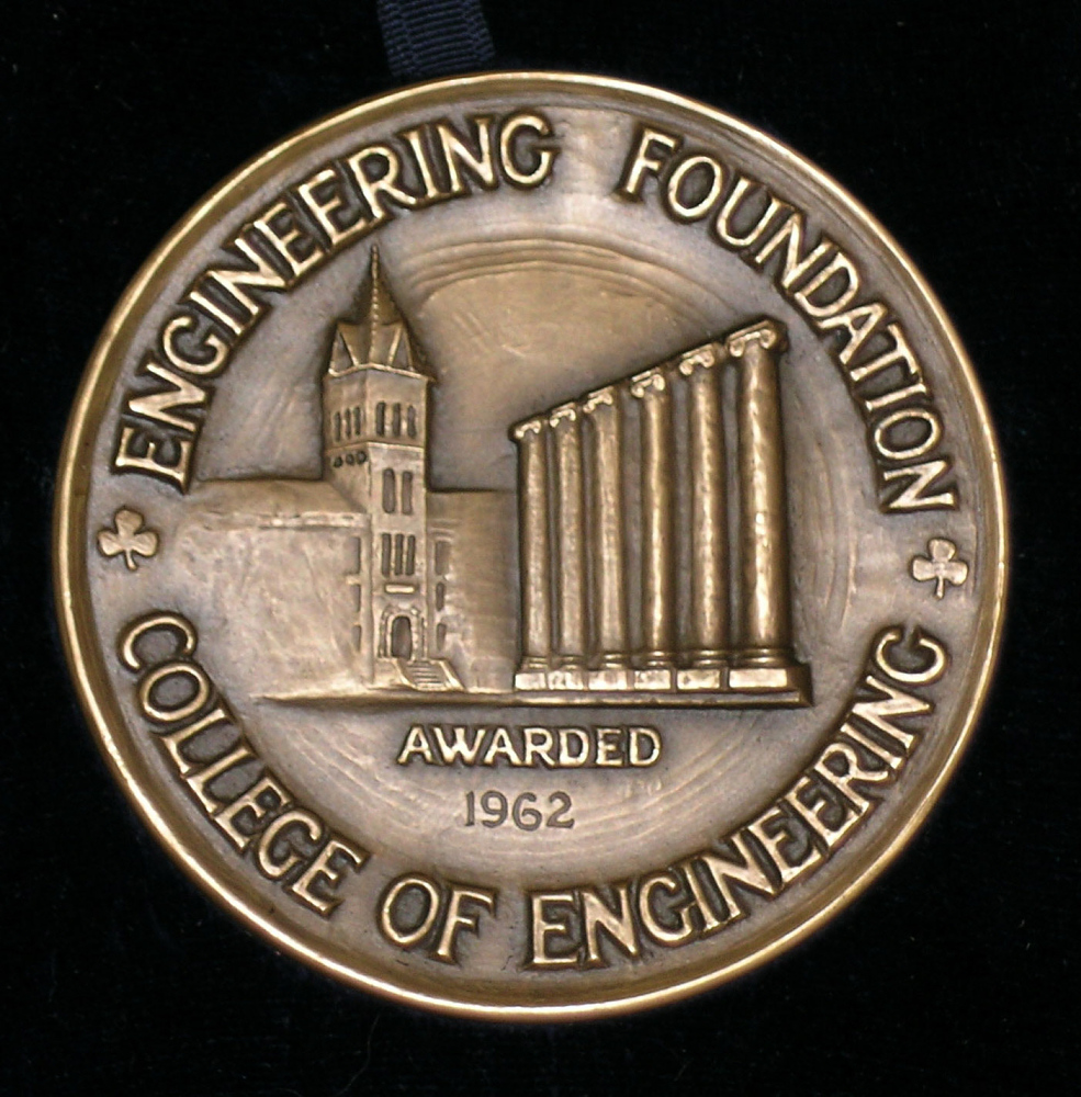 Medal, Distinguished Service in Engineering, University of Missouri, 1962