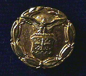 Lapel Button, Exceptional Civilian Service, U.S. Air Force, 1969, C. S. Draper