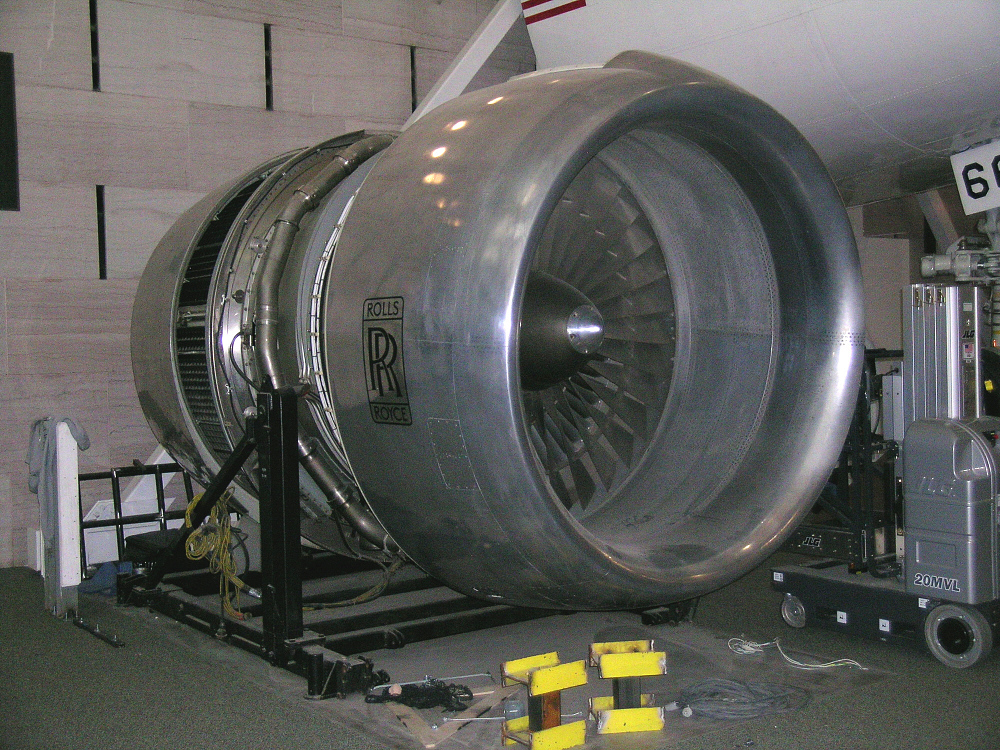 Rolls-Royce RB211-22 Turbofan Engine, Cutaway