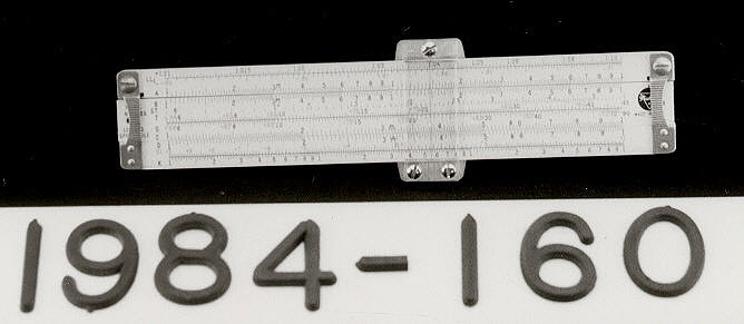 Slide Rule, 5-inch, Pickett N600-ES, Apollo 13