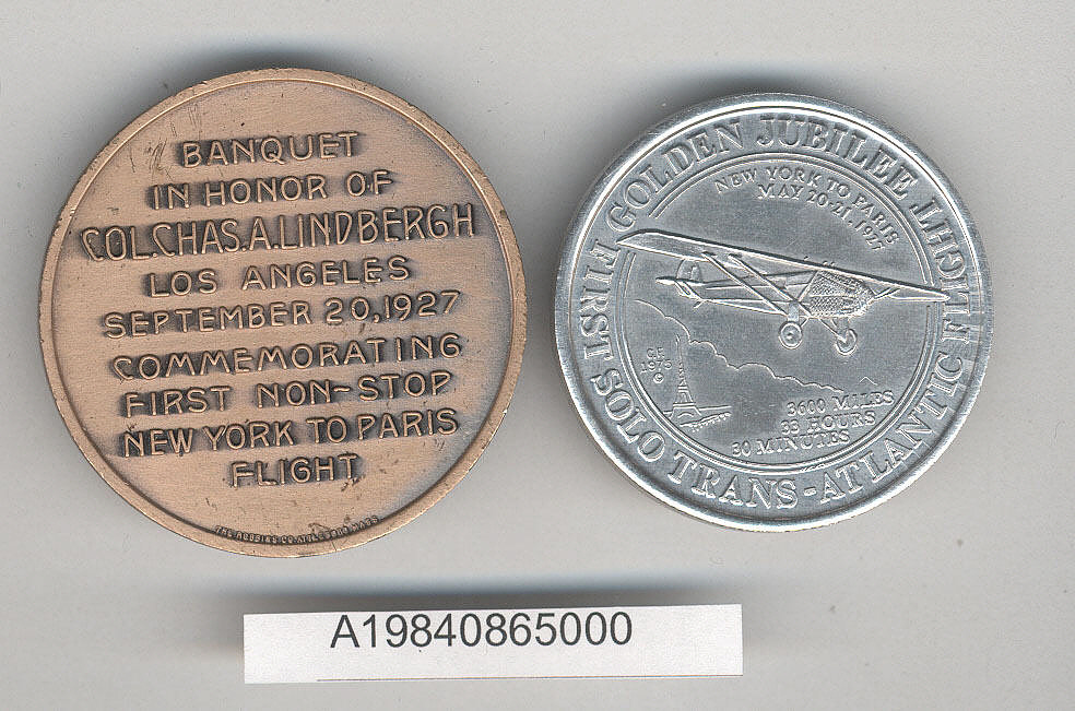 Token, Commemorative, Charles Lindbergh