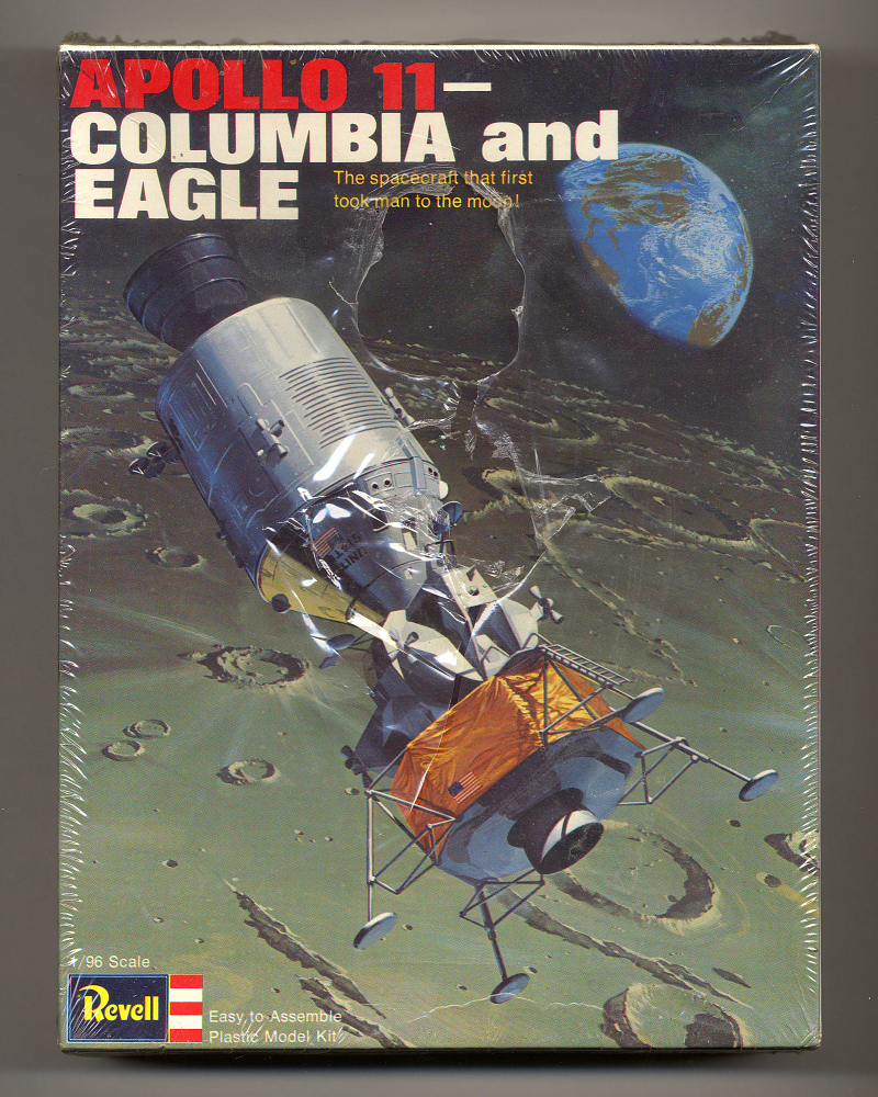 Model Kit, Apollo 11 - Columbia and Eagle, 1/96