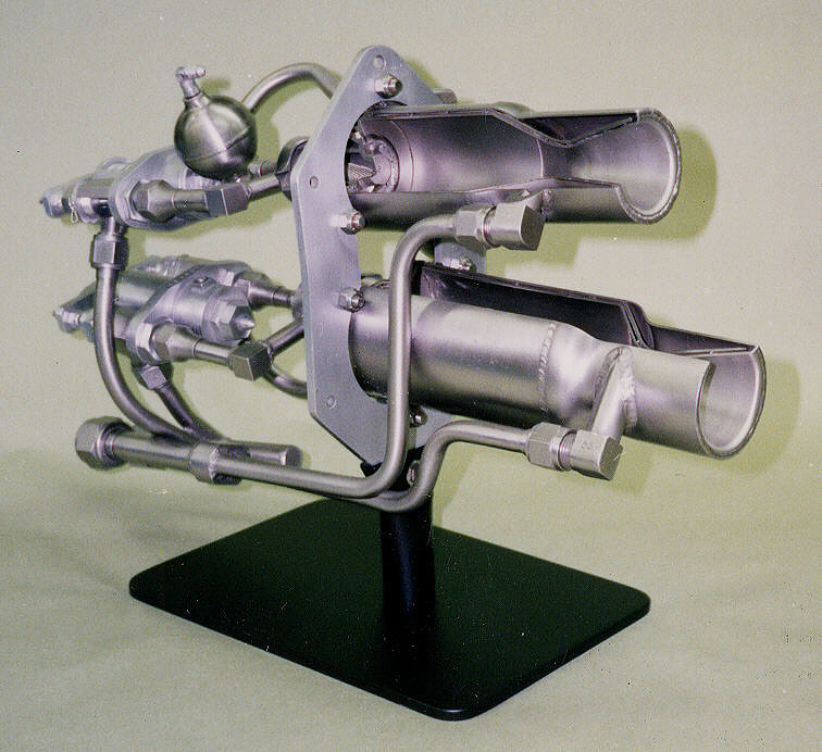 Rocket Engine, Liquid Fuel, Cutaway, LR2-RM-4, for Lark Missile