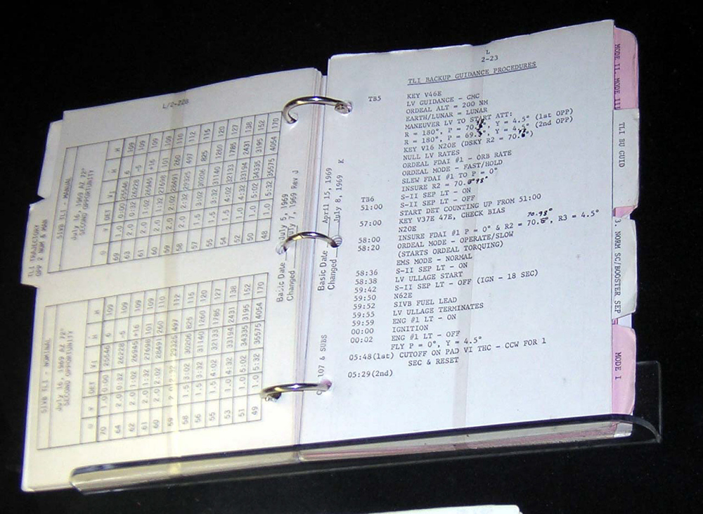 Notebook, Checklist, Launch Operations, Apollo 11,Notebook, Checklist, Launch Operations, Apollo 11