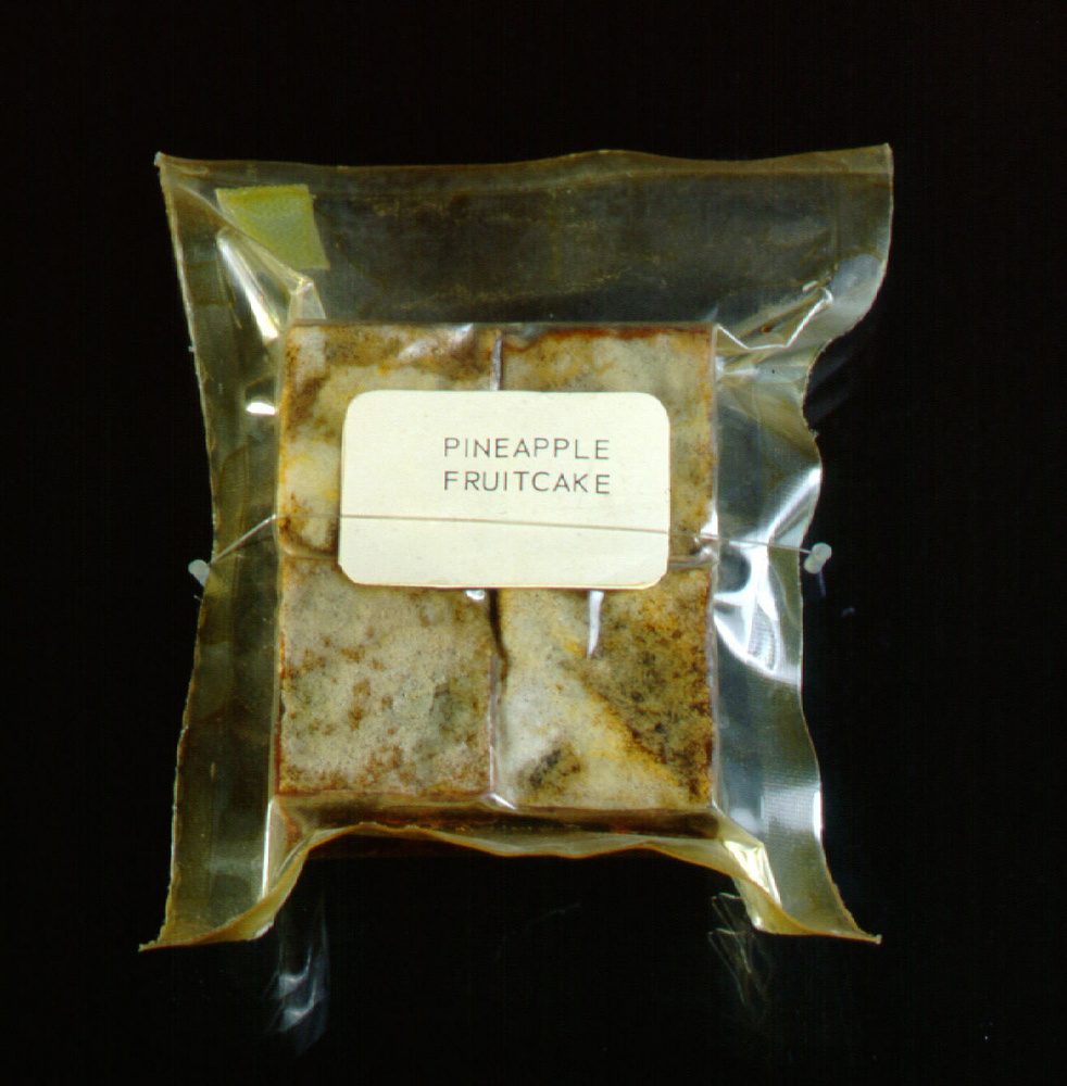 Space Food, Pineapple Fruitcake, Apollo 11 (Blue)