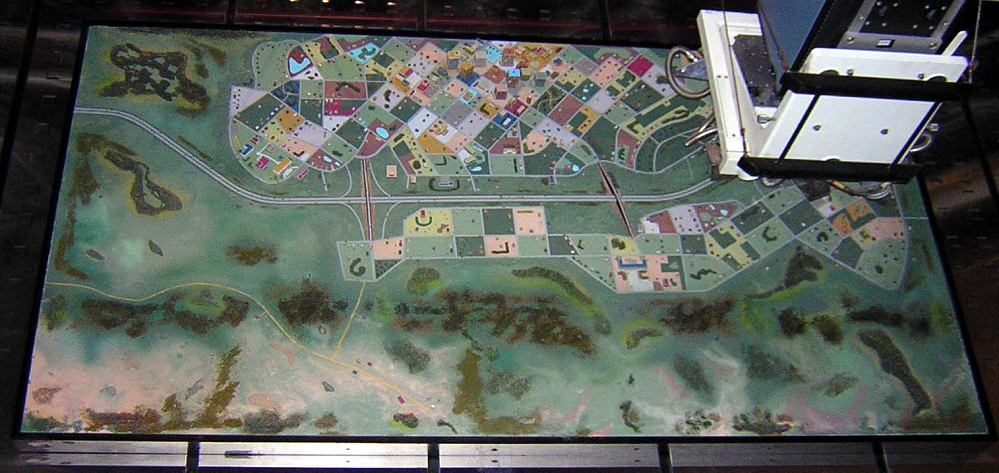 Terrain Board, Segment, Lubbock, Texas, Flight Simulator