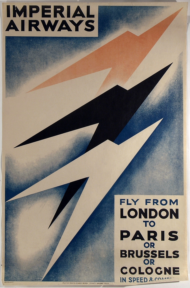 Imperial Airways Fly to from London to Paris or Brussels or Cologne in Speed and Comfort