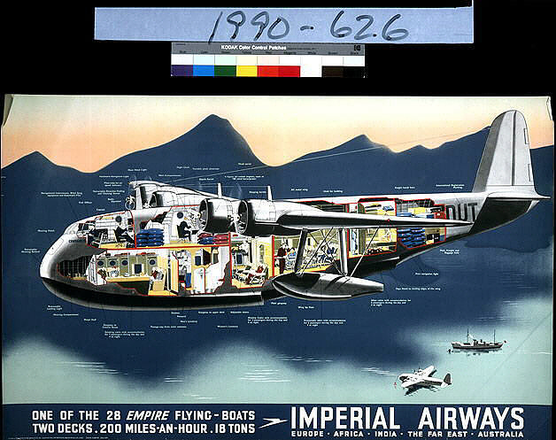 Imperial Airways One of the 28 Empire Flying Boats