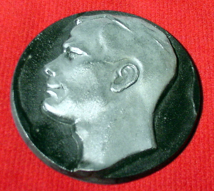 Medal, Silver and Black, Yuri Gagarin,Medal, Silver and Black, Yuri Gagarin