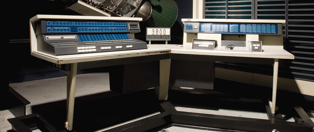 Computer Console, CDC 3800, Left Side,Computer Console, CDC 3800, Left Side