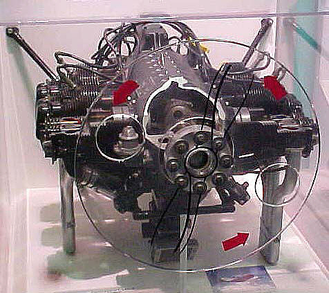 Continental C-125-2 Horizontally-opposed Engine