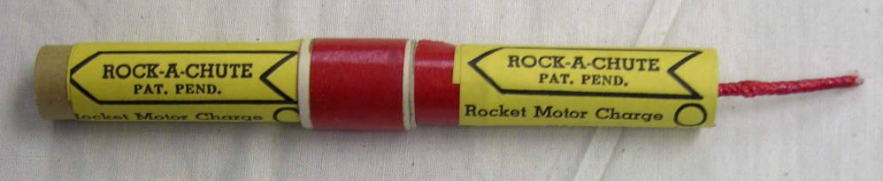 "Motor, Model Rocket, Orville Carlisle ""Rock-A-Chute"" Type, Staged"