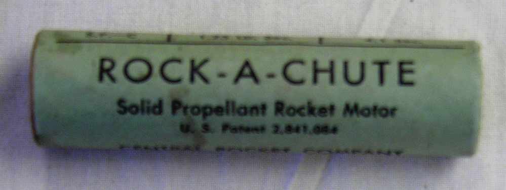 "Motor, Model Rocket, Central Rocket Co. ""Rock-A-Chute"" Type"