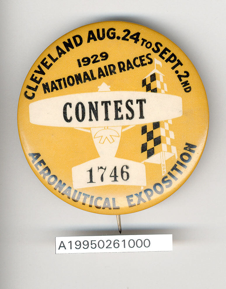 Button, Contestant, 1929 National Air Races,Button, Contestant, 1929 National Air Races