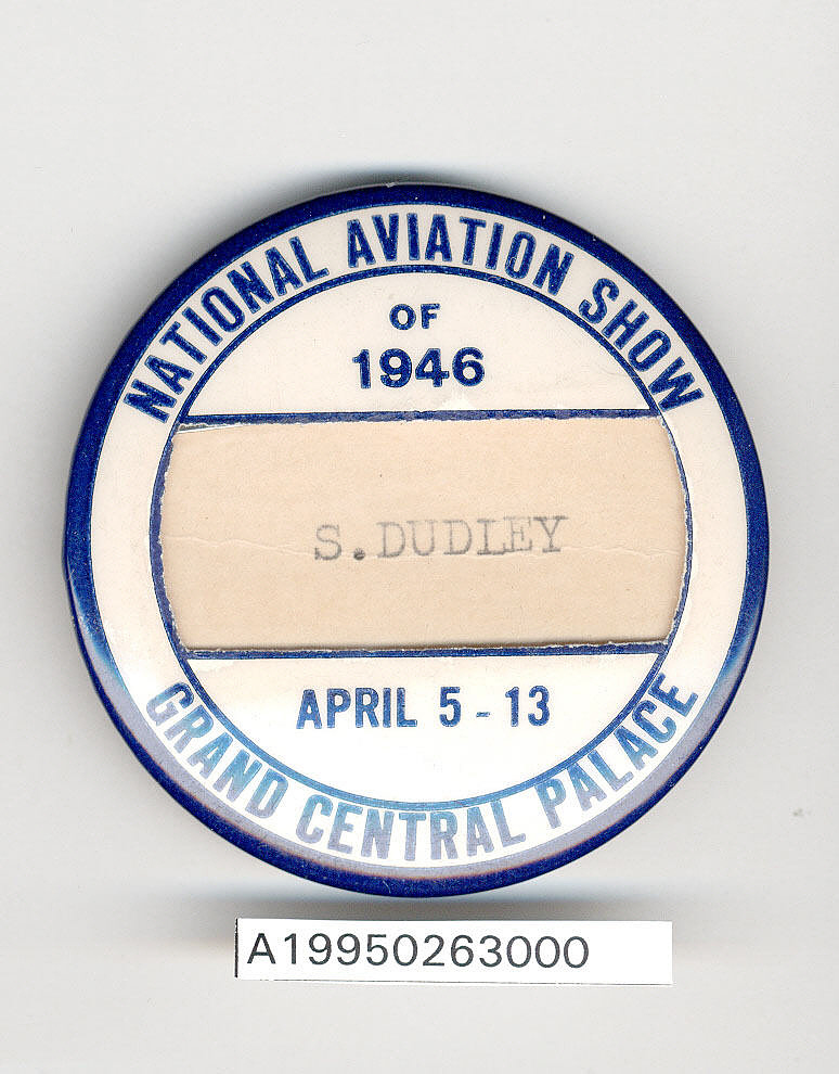Button, Participant, 1946 National Aviation Show,Button, Participant, 1946 National Aviation Show