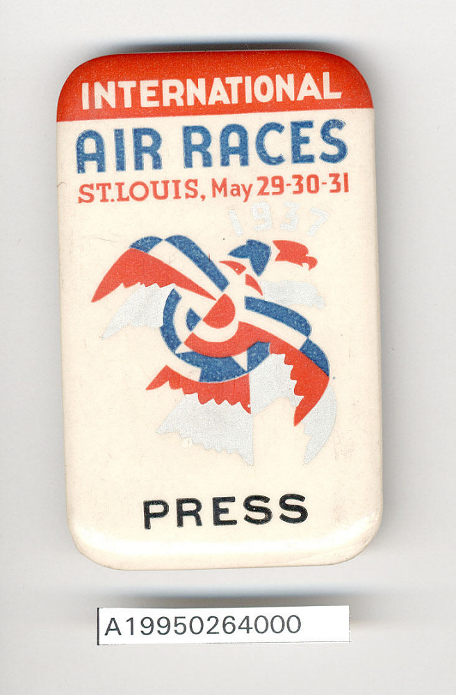 Button, Press, 1937 International Air Races,Button, Press, 1937 International Air Races