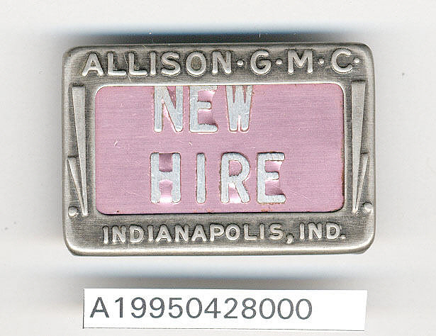 Allison Division General Motors Corp.Identification Badge