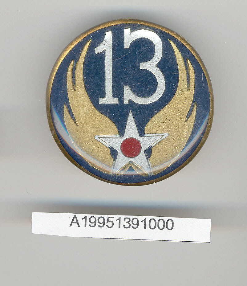 Badge, 13th Air Force, United States Army Air Forces,Badge, 13th Air Force, United States Army Air Forces