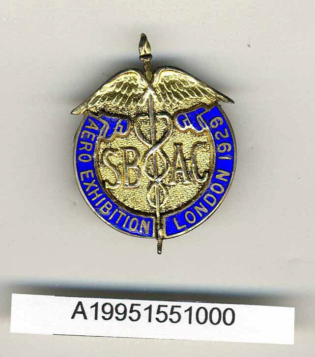 Badge, 1929 London Aero Exhibtion,Badge, 1929 London Aero Exhibtion