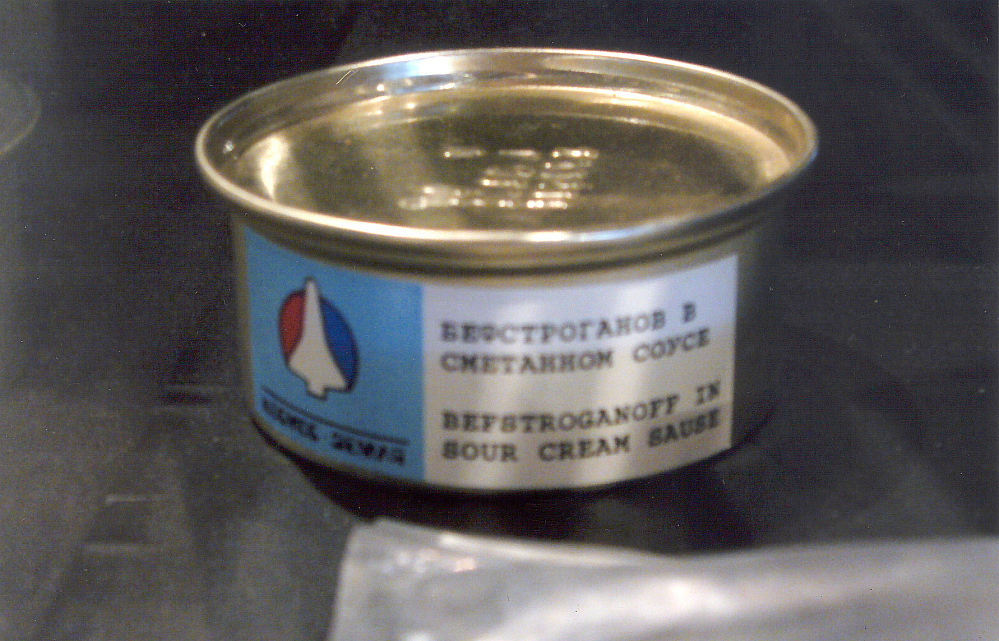 Spacefood, Beef Stroganoff, Canned, Soviet