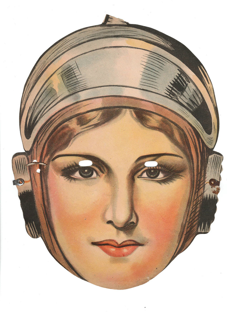 Mask, Wilma Deering, Buck Rogers Comic Strip Character,Mask, Wilma Deering, Buck Rogers Comic Strip Character